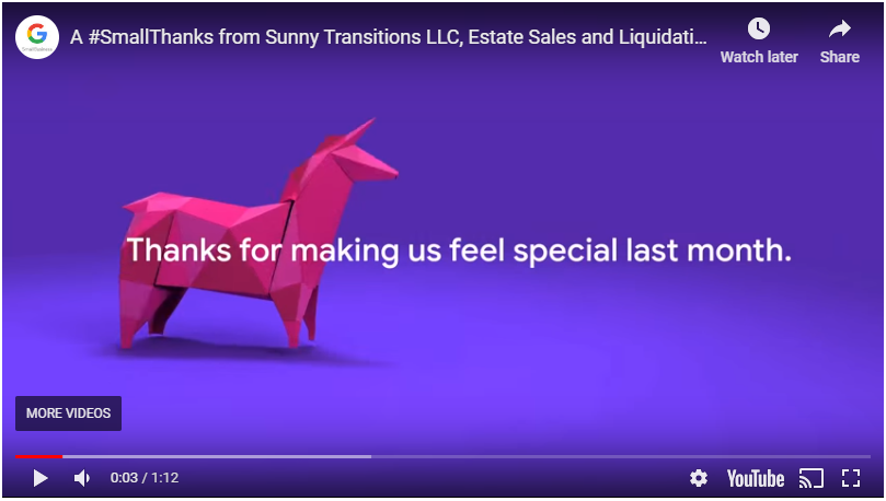 Thank you, from Sunny Transitions!